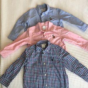 Ralph Lauren Button Long Sleeves Shirts (3 pcs.)